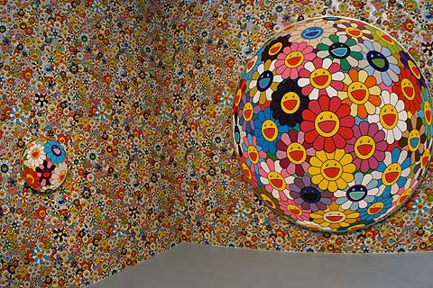 takashi murakami wallpaper. Takashi Murakami Exhibit at
